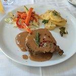Fillet beef steak with pepper sauce