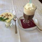 Lemon posset & Irish coffee desserts
