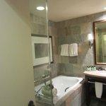 Glass shower plus bathtub