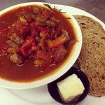 Beef Goulsh, one of 7 all you can eat soup and bread ONLY $4.99 Wednesdays