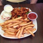 Clam strips & fries at the Can