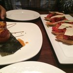 Bruschetta was so delicious! And the bacon wrapped scallops I could eat every day