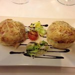Ham and cheese vol-au-vent starter