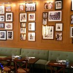 Inside the restaurant: wall of fame