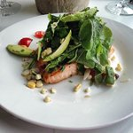 our salmon with farm fresh vegetables