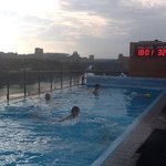 rooftop pool at hotel