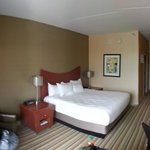 Small pano of a typical King bed room