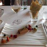 foie gras with berries.