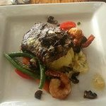 Steak & Prawn Special - Hope you like garlic butter