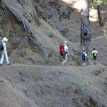 camino hacia el pico Bejenado