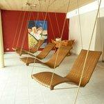 sale relax saune con sdraio a dondolo