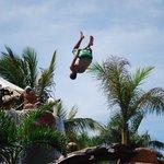Cliff jump pool antics....so much fun!