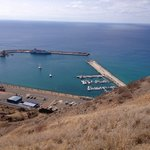 View of port from our citybubble (porto santo 2014)