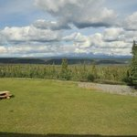 vue depuis la chambre sur les wrangell mountains