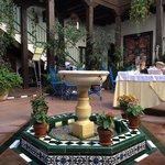 Beautiful fountain in the courtyard
