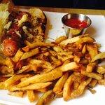 Brat & fries - very good