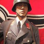 Luftwaffe uniform and M36 steel helmet?  Not sure if it is a replica
