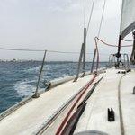 Sailing in from Playa Blanca, Lanzarote