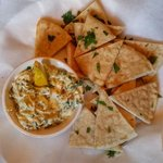 Artichoke and Spinach Dip with Pita Bread
