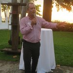 Mr Adrian Whitehead GM at Beaches Negril at SSG reception