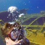 Wreck dive off the coast of Santorini, Greece