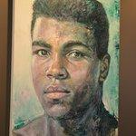 Painted portrait of Muhammad Ali