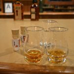 The bourbon samples