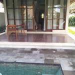 Veranda/entrance of Deluxe Pool Villa