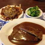 """meatloaf and """"small"""" poutine"""
