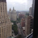View of City Hall, the East River, and Brooklyn Bridge from the room