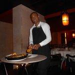 At La Fuente, delicious paella!