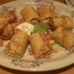 Chicken Taquitos appetizer is enough to feed   two people for lunch