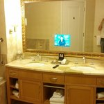 T.V in mirror
