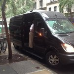 Here is Cliff and the private van we toured in