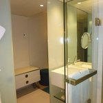 bathroom to hall and minibar area