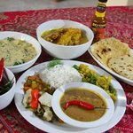 Lovley Indian food served at #Safari Ostrich Farm