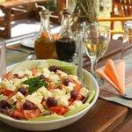 Salad starter of 3-course lunch #Safari Ostrich Farm
