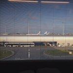 Watching the aeroplane taking off and landing