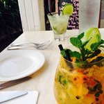 Passion fruit and Lychee Mojito's... Yumm!!