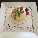 Tres Leche Cake just for us delivered to the Spa VIP Room