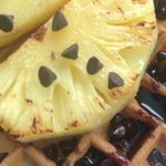 Breakfast Waffle with grilled pineapples