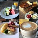 American breakfast at Petani Restaurant