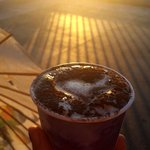 coffee and a sunset