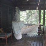 Hamaca en la terraza de la Cabina