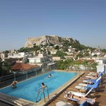 Acropolis from rooftop Restaurant - day