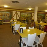 breakfast room in the basement of the lodge