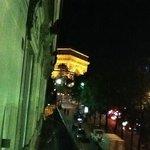 ustikt fra balkongen på hotel park etoile.