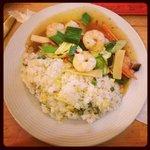Crevettes façon Sze-Chuan & riz cantonais