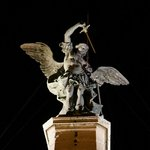 Archangel Michael standing on top of the Castel Sant'Angelo