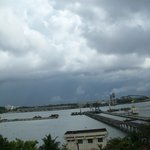 View of Willingdon Island from Hotel room during onset of Monsoon